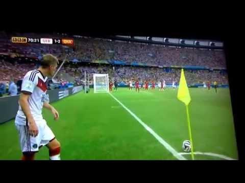 Miroslav Klose record equalling goal vs Ghana 2-2