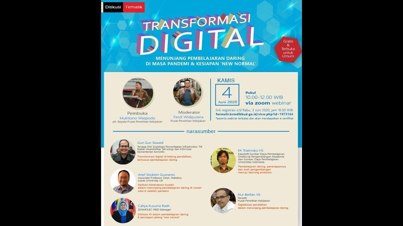 Transformasi Digital Dalam Menunjang Pembelajaran Daring Di Masa Pandemi & Kesiapan 'New Normal'