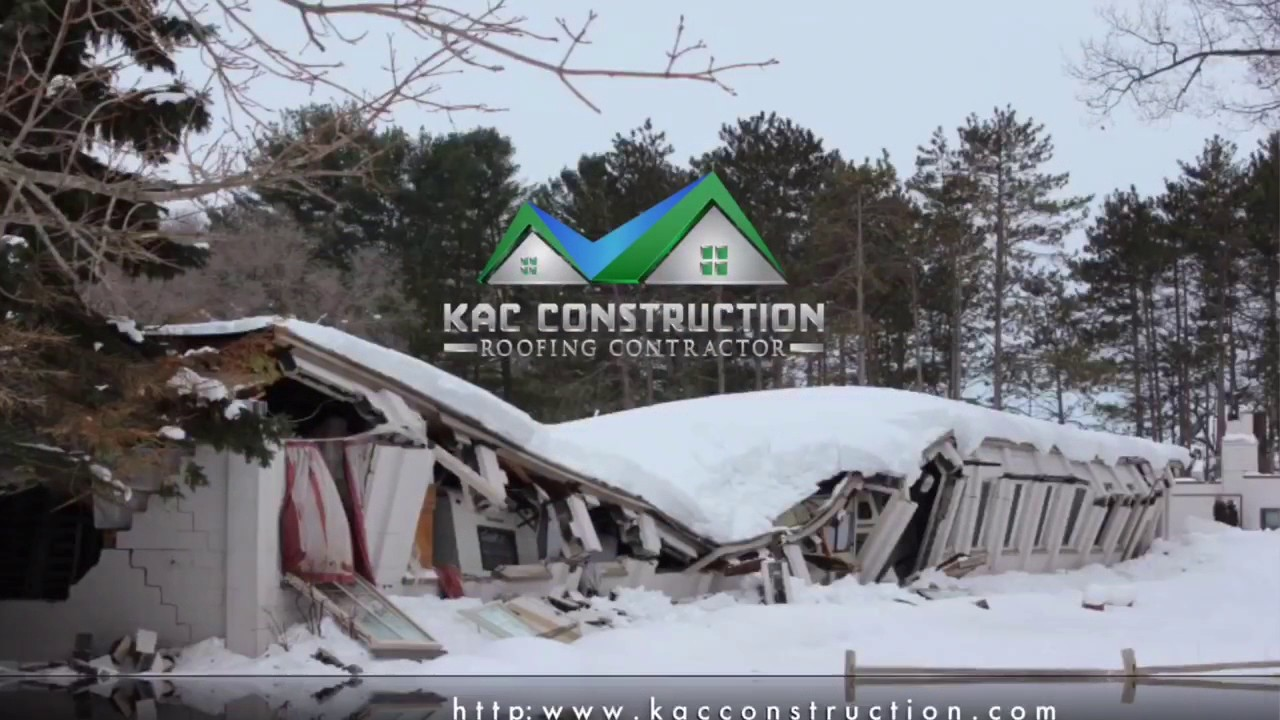 Flat Roof Snow Removal New London Ct Kac Construction 860 733 1003