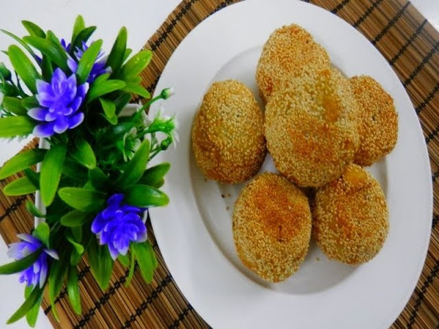 ???? ???? ?????? ??????? ?????? ??????| ???? 130| Fried sesame balls with sweet beans