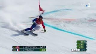 JO 2018 : Ski alpin - Slalom géant hommes. Alexis Pinturault en bronze !