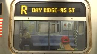 NYC Subway Special: R160 (R) Exterior Destination Sign To Bay Ridge Transition