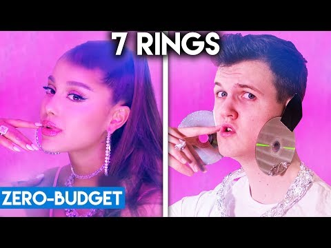 ARIANA GRANDE WITH ZERO BUDGET 7 Rings
