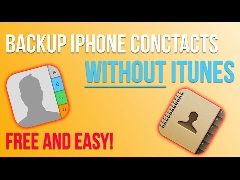 How To Backup iPhone contacts on email & DropBox.
