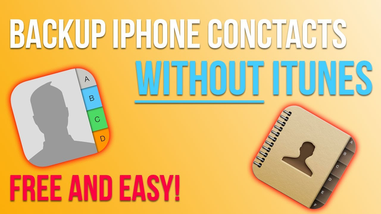 How to Backup or Save iPhone/iOS Contacts WITHOUT iTunes or iCloud 2016