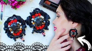 AMAZING Vintage Earrings ▶ DIY◀ Lace and Polymer Clay
