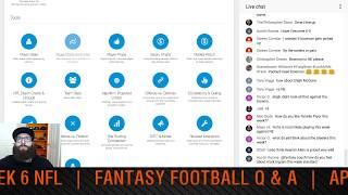 Dfs week 6 picks nfl 2017 and fantasy football q&a