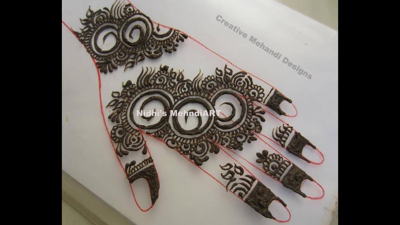 New Circular Gulf Style Henna Mehndi Design Tutorial Youtube