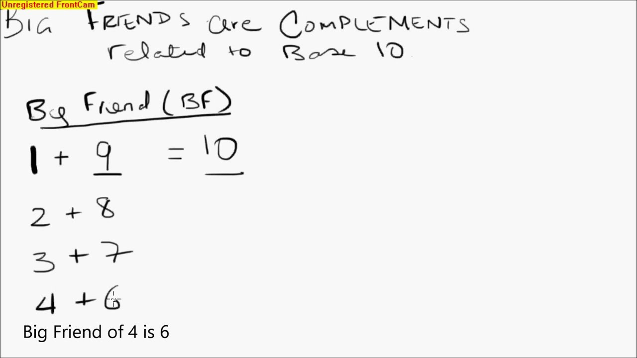 Abacus Math Lesson 6 Complements Base 10 Big Friend Concept Youtube