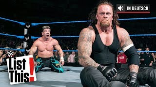 5 phänomenal seltene Undertaker-Matches– WWE List This! (DEUTSCH)