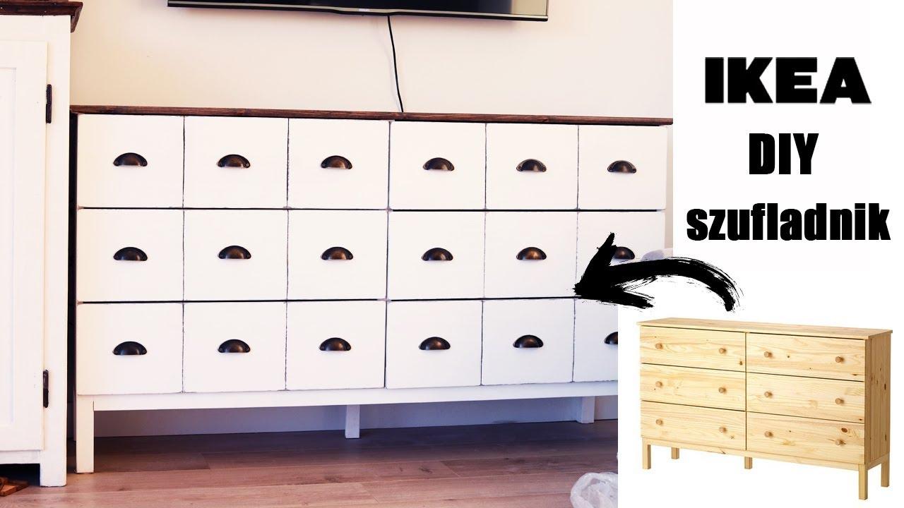 Aktualne DIY 💪 IKEA HACK 👌 Jak przerobić komodę na szufladnik - YouTube QI84
