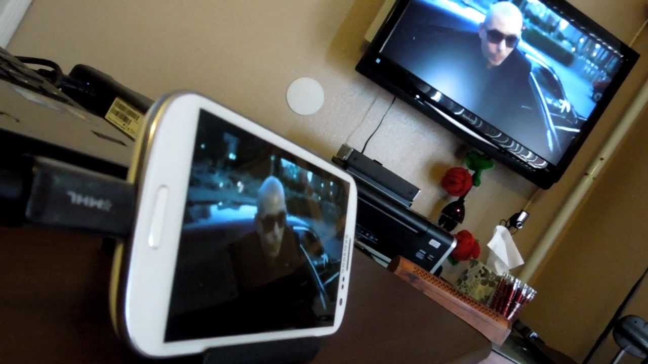 Samsung Galaxy S 3 Mhl To Hdmi Adapter Youtube
