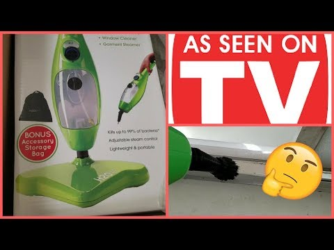 DOES IT WORK??? H20 X5 STEAM MOP REVIEW| AS SEEN ON TV| CLEANING VIDEO
