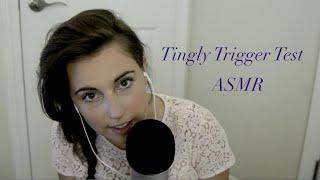 ASMR Trigger Test (time stamp in description)