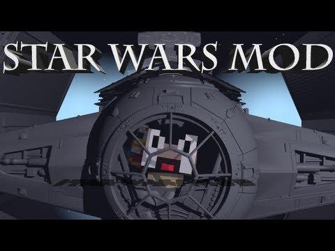 Star Wars Mod: Minecraft Star Wars Mod Showcase! Ships, Guns & Jedi!