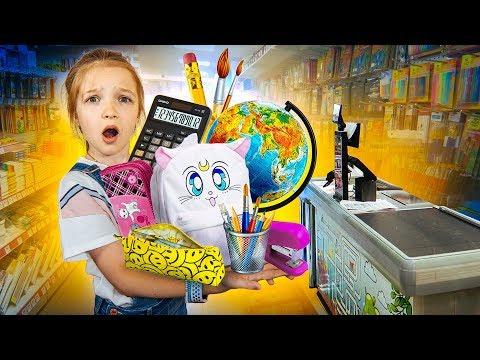 ПОКУПАЮ ВСЁ ЧТО ТЫ МОЖЕШЬ УНЕСТИ ИЗ МАГАЗИНА к ШКОЛЕ ! BACK TO SCHOOL 2019 Valensia Lucky 🍀
