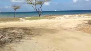 Jogging along Aruba coast