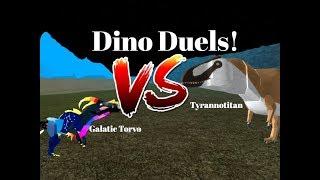 Gal Torvo VS Tyrannotitan |Dino Duels!| ROBLOX| Dinosaur Simulator