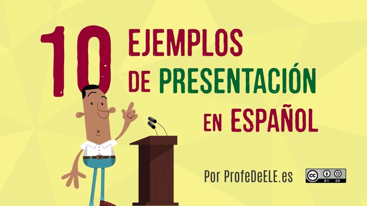 10 presentaciones en español de españa y américa youtube