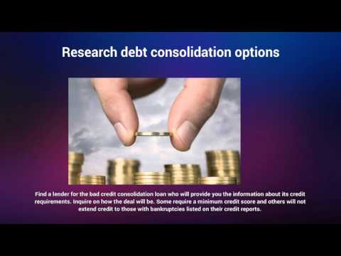 Bad Credit Debt Consolidation Loans: Pay your debts under one roof, with debt consolidation loan
