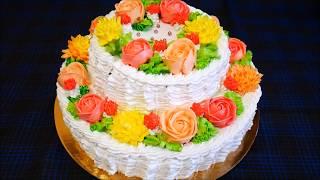 СБОРКА и ОФОРМЛЕНИЕ   2 х ярусного торта