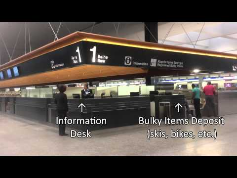 Finding the Check-in Areas at Zurich Airport, from the Train Station