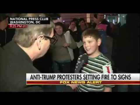 Kid Says He Lit Fire At Protest, Says 'Screw Our President' On Live TV