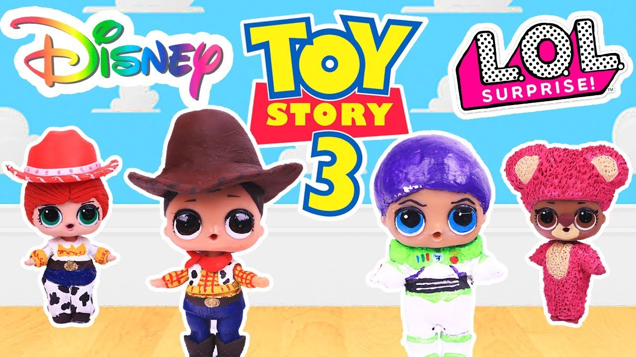 Toy Story Custom Lol Surprise Dolls Series 3 With Woody Buzz
