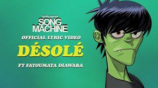 Gorillaz - Désolé ft. Fatoumata Diawara (Official Lyric Video)