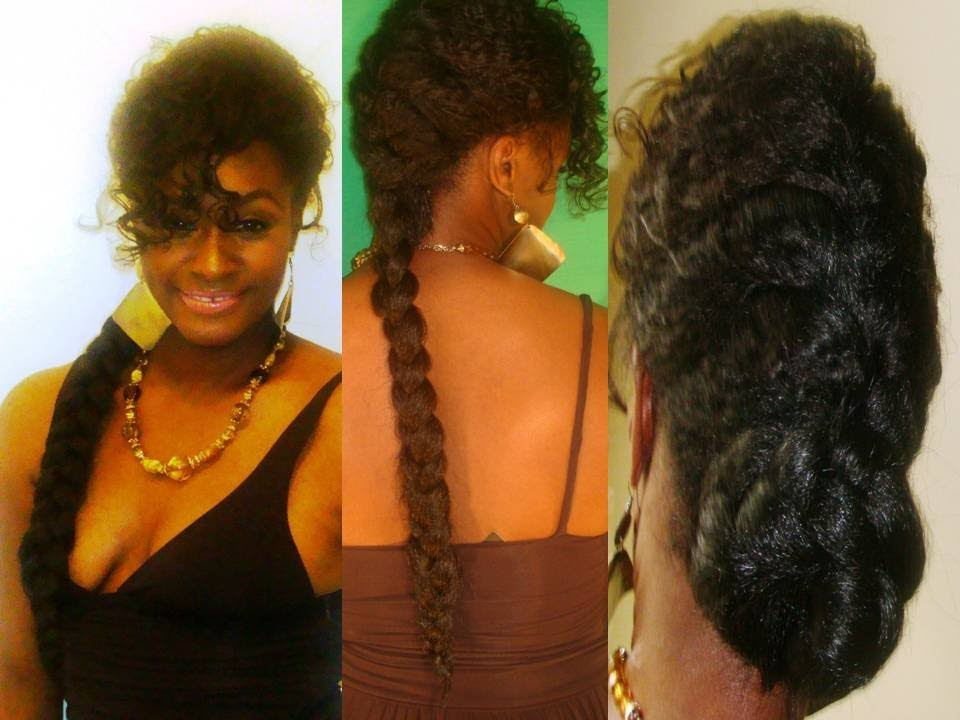Protective Style Elegant Jumbo French Braid For Short Or Fine Hair