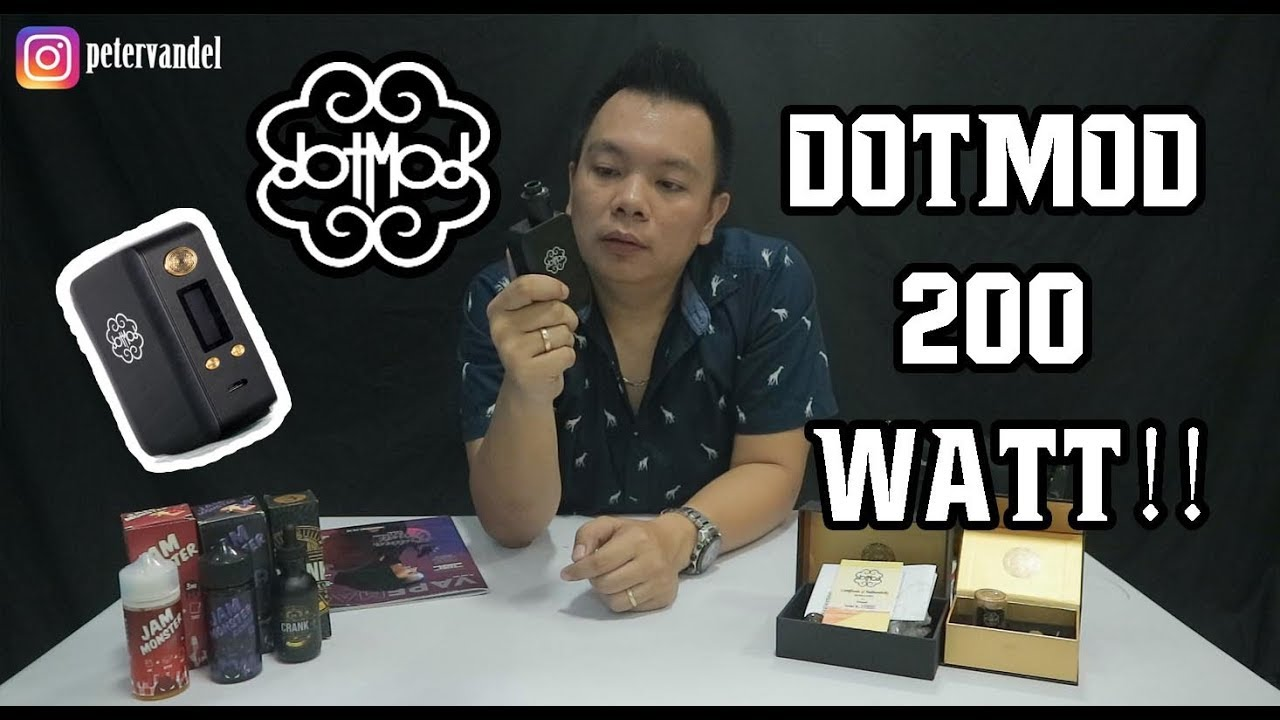 Review DOTMOD 200W Indonesia || Vaping Udah LEGAL brooo!!