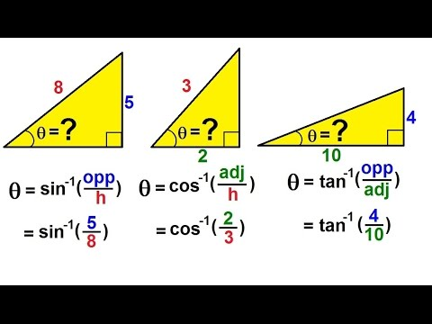 PreCalculus - Trigonometry: The Right Triangle (13 of 26) Inverse Trig  Functions: Summary