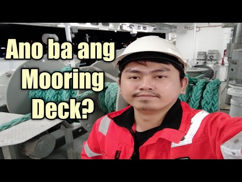 Mooring deck | station on board a ship | paano gamitin ang mooring winch #mooring #deck #kubyerta