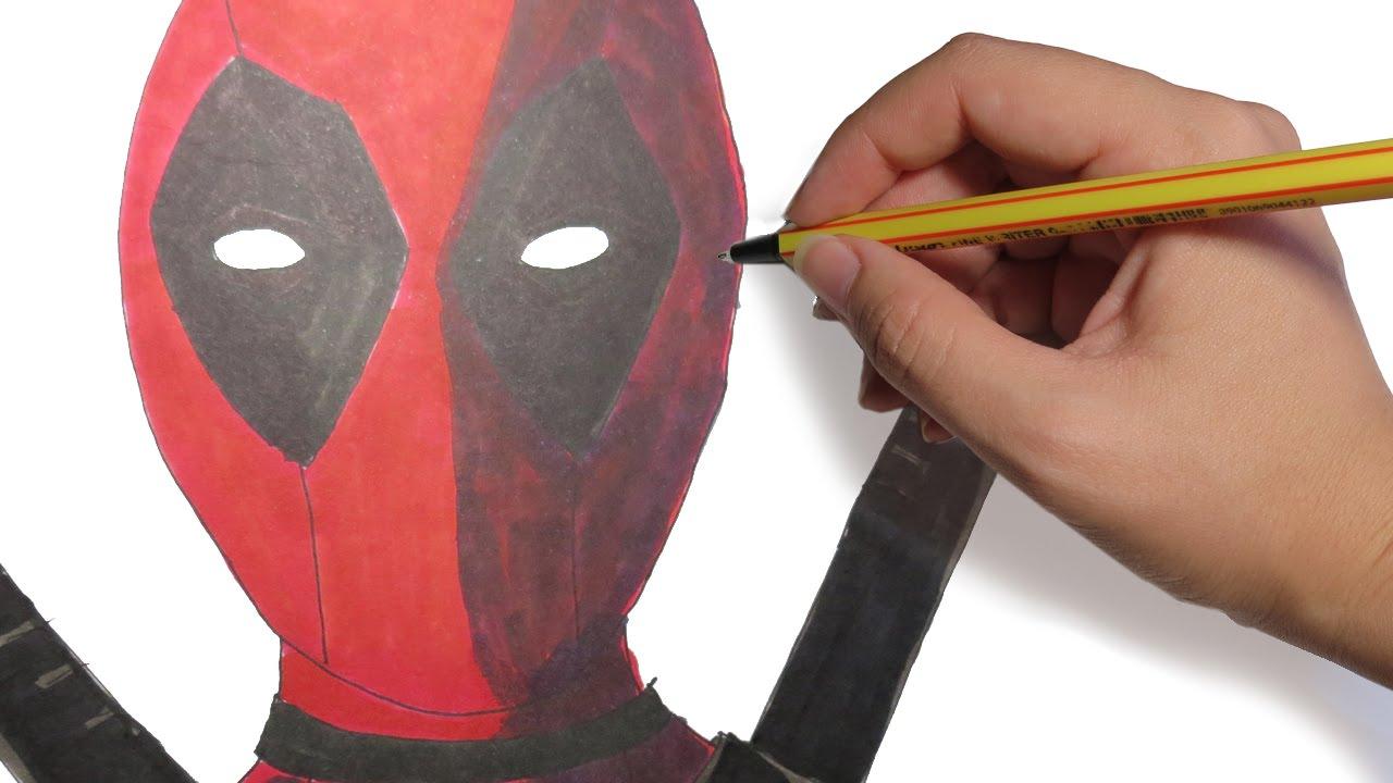 Como Dibujar A Deadpool Facil Paso A Paso Youtube