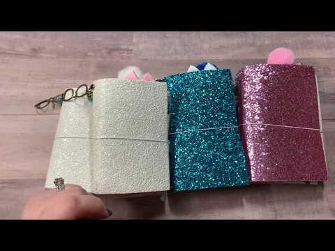Sparkling glitter cover travelers notebooks
