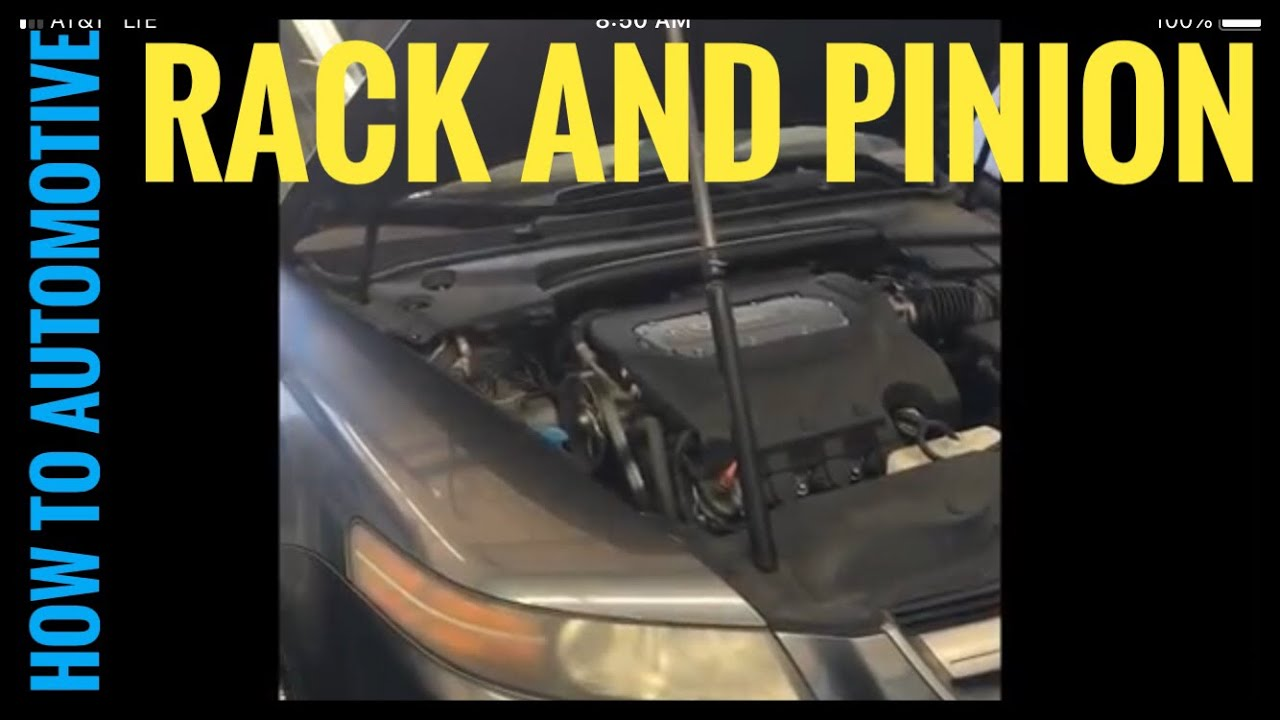 How To Replace The Power Steering Rack And Pinion On A Acura TL - Acura tl rack and pinion