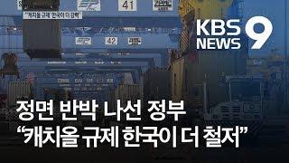 """'백색국가' 제외 근거없어…""""캐치올 규제, 한국이 더 강력"""" / KBS뉴스(News)"""
