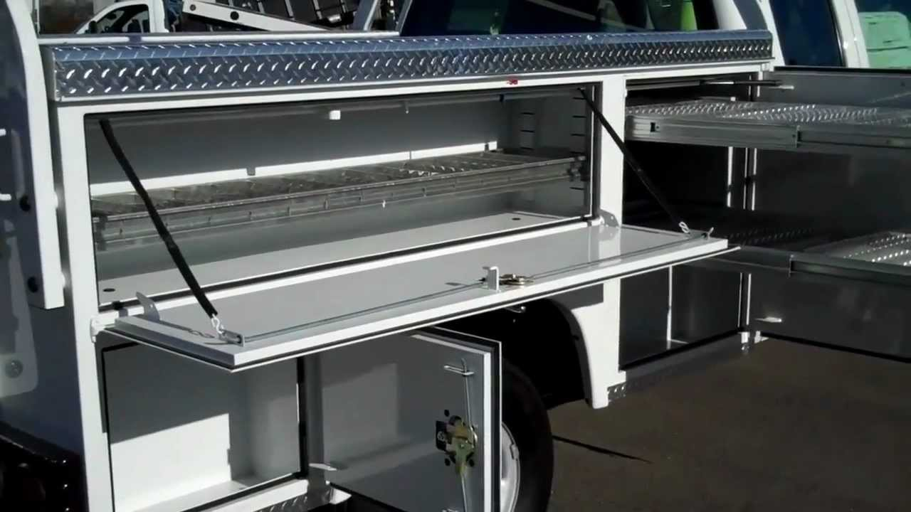Service Body Tool Cabinet : Great commercial truck solutions a lot more space from an
