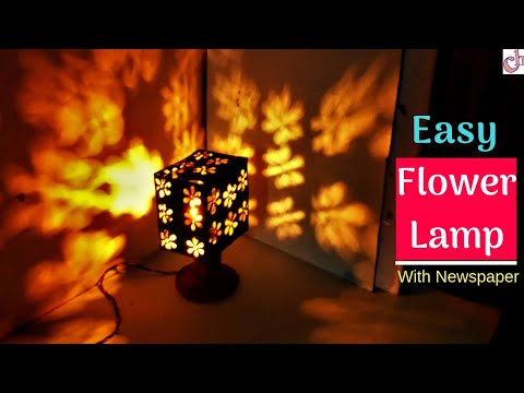 DIY Newspaper Lampshade | Christmas decoration ideas
