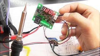 подключаем к паяльнику терморегулятор W1209, при помощи LM358, тест до температуры 400 градусов
