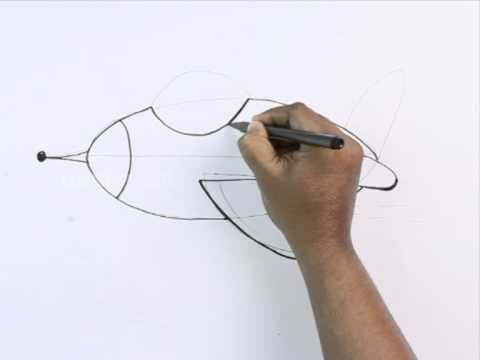 how to draw a jet plane
