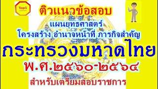 ติวข้อสอบ แผนยุทธศาสตร์ โครงสร้างอำนาจหน้าที่ กระทรวงมหาดไทย ๒๕๖๐-๒๕๖๔; สำหรับเตรียมตัวสอบราชการ