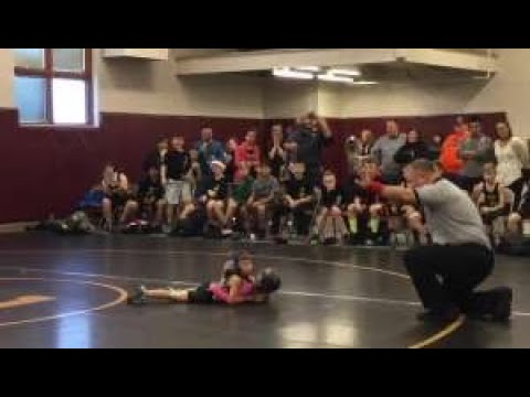 Little Brother Mistakes Sisters Wrestling Match For Fight