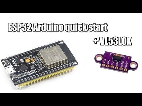 ESP32 + VL53L0X в Arduino IDE первый проект