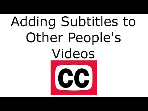 Submitting SubtitlesCC for YouTube Videos