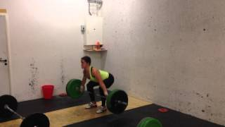 Snatch w. three second pause in bottom position: 65 x 3 reps by Mia Åkerlund