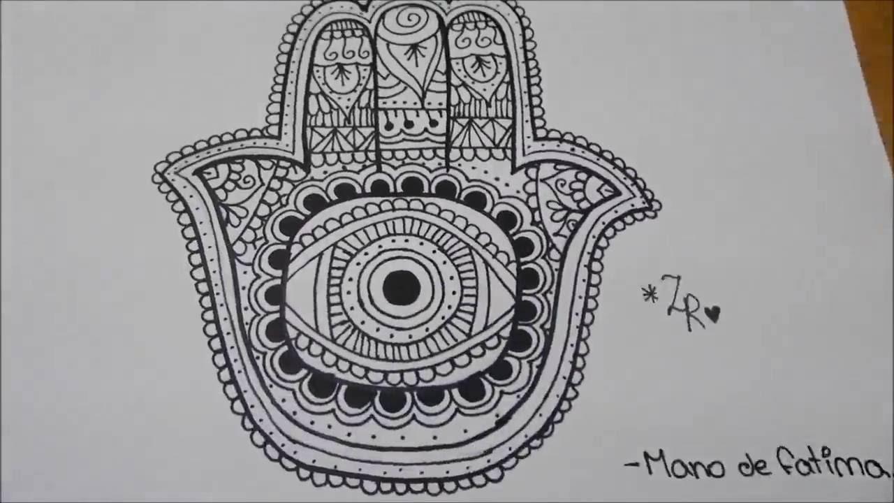 Mano de Fatima Zentangle Art ♥ YouTube