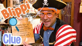 Blippi The Pirate Learns On A Treasure Hunt | Early Educational Videos For Kids
