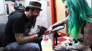 Tattoo with Kandy and Tony Carey at Hold Fast Tattoo