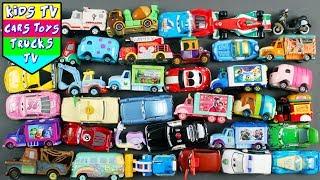 Disney Vehicles For Kids Children Babies Toddlers | Bus Trucks Van Bikes Police Car Excavator KidsTV